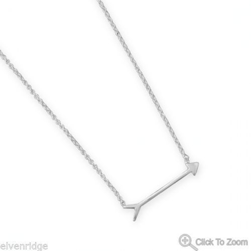 "16"" + 2"" Arrow Design Necklace Sterling Silver"