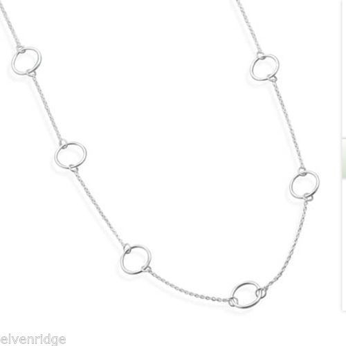 "16"" Sterling Silver Chain with Circle Links Sterling Silver"