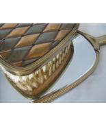 Vintage Hand Mirror - Golden Wheel Mirror & Brush Set - $20.00