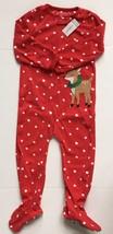 Carter's Girl's Footed Fleece Reindeer Sleeper - Red Dot - 6 Month - $11.87
