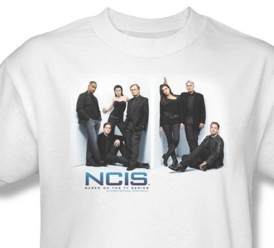 NCIS T shirt CSI TV crime TV show 100% cotton white tee CBS494