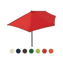 Yard Half Round Parasol Garden Terrace Umbrella Sun Shade Shelter Patio ... - $77.79+