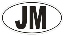 JM Jamaica Country Code Oval Bumper Sticker or Helmet Sticker D951 - $1.39+