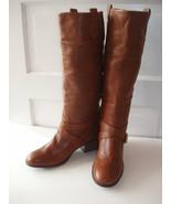 Pour La Victoire Vance British Tan Pebble Leather Pull-On Riding Boots S... - $150.00