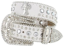 Black Rhinestone Cross Jeweled Studded Belt (2X-Large, Black) - $14.84