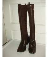 Stephane Kelian Brown Leather & Suede Boots US Size 8 NEW - $160.00