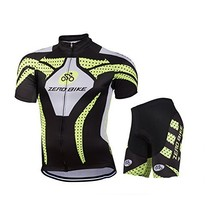 ZEROBIKE® Men's Short Sleeve Breathable Cycling Jersey 3D Padded Shorts ... - $30.68