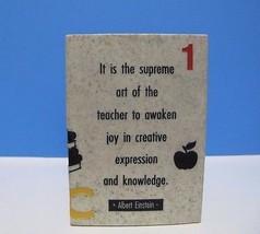 Pencil Holder Teacher Educator Resin Vintage VE... - $14.60