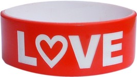 """60 ONE INCH 1"""" COLOR TEXT CUSTOM SILICONE WRISTBANDS BIG FAT (PHAT?) BANDS - $119.40"""