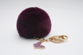 Butterfly Collection Electric Purple fur pom po... - $18.95