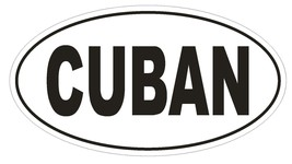 CUBAN Country Code Oval Bumper Sticker or Helmet Sticker D983 - $1.39+
