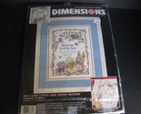 Dimensions Counted Cross Stitch Kit Welcome Little One Birth Record 3845 Started
