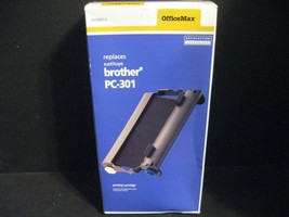 Brother PC-301 Black Printer Ink Toner Cartridge OfficeMax New Old Stock - $23.36