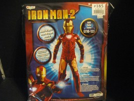 Ironman 2 Costume Large 10-12 Cosplay Mark IV Suit & Mask Glows with Glo... - $28.04