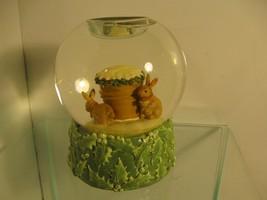Marjolein Bastin Tea Light Candle Christmas Water Globe Hallmark Snow Bu... - $17.32