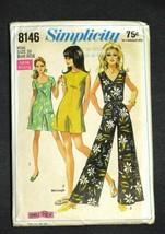 """Vintage 1969 Simplicity Jumpsuit Pattern Uncut Size 10 Bust 32-1/2"""" - $18.99"""