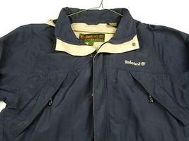 Timberland Weathergear Blue Nylon Jacket Zip Front Coat Hood Unlined Sz.... - $19.99
