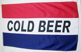 Cold Beer Business Flag 3' X 5' Indoor Outdoor Sales Banner - $9.95