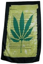 13 Reasons Marijuana Scroll Flag 5' X 3' Vertical Historical Fact Banner - $9.95