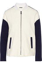 822508480692 VINCE Color-block cotton-twill bomber jacket - $151.05