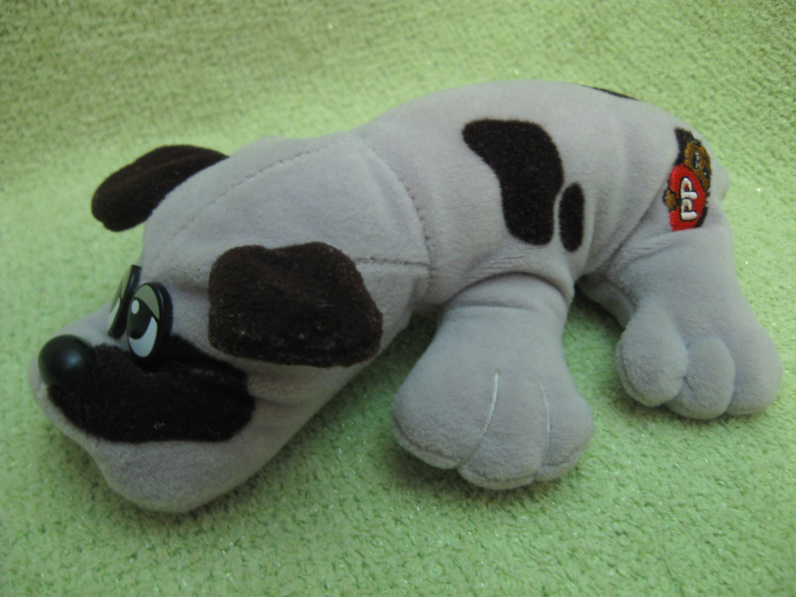 Pound Puppies Plush Grey Brown Spots Vintage and similar items