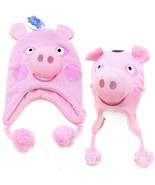 Peppa Pig Laplander FACE 3D Beanie PINK Hat Licensed- Brand New - $18.60