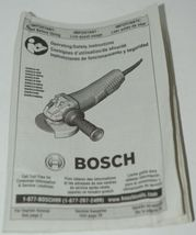 BOSCH GWS13 50VSP Variable Speed Angle Grinder Lock On Paddle Switch CORDED Pkg1 image 9