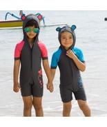 Kids Swimwear with Hood Children Unisex Swimsuit Boys Girls One Piece Ba... - $29.00