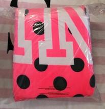Victoria/'s Secret PINK Cheetah Leopard Colorblock Black Sherpa Blanket Throw NEW