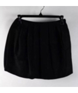 H&M Black Classic Airy Zip Up Pleated Poof Mini Skirt Sz4 - $14.99