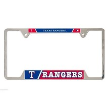 MLB Texas Rangers Heavy Duty Chrome Metal Licen... - $15.95