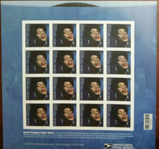 SARAH VAUGHAN - 2015 (USPS) 16 MINT SHEET STAMPS - $12.95