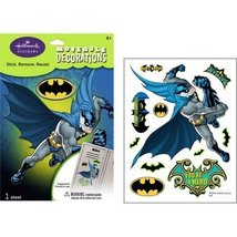 Batman Small Removable Wall Decorations Party Accessory by Hallmark - $4.90