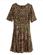 H&M Skater Dress Size 2 Animal Print Black Brow... - $24.99