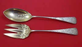"Clematis by Gorham Sterling Silver Salad Serving Set 2pc AS Gold Washed 11 1/4"" - $689.00"