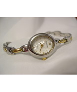 "L73, Rumours, Ladies Watch, MoP Face, Elegant 7"" Two Tone Bracelet Band  w/b - $17.87"