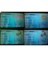 Pokemon ORAS X Y Perfect Shiny Rayquaza, Kyogre and Groudon - $7.50