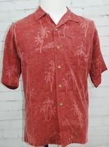 Big Dogs Hawaiian Shirt 100% Silk Mens Medium Short Sleeve Palm Tree Flo... - $24.74