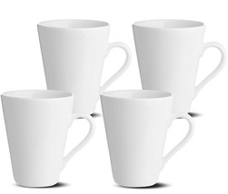 Oxford Gourmet Mugs (Set of 4), White - $26.24