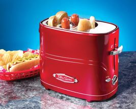 Retro Pop-Up Hot Dog Toaster Classic Hotdog Cooker Classic Red Gift Vint... - £31.07 GBP