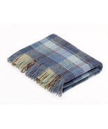 Country Check - Merino Lambswool - Huntingtower Blue Throw / Blanket - ₹8,658.60 INR