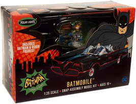 Polar Lights 1966 Batmobile Snap Together 1:25 scale model kit 965 - $27.71