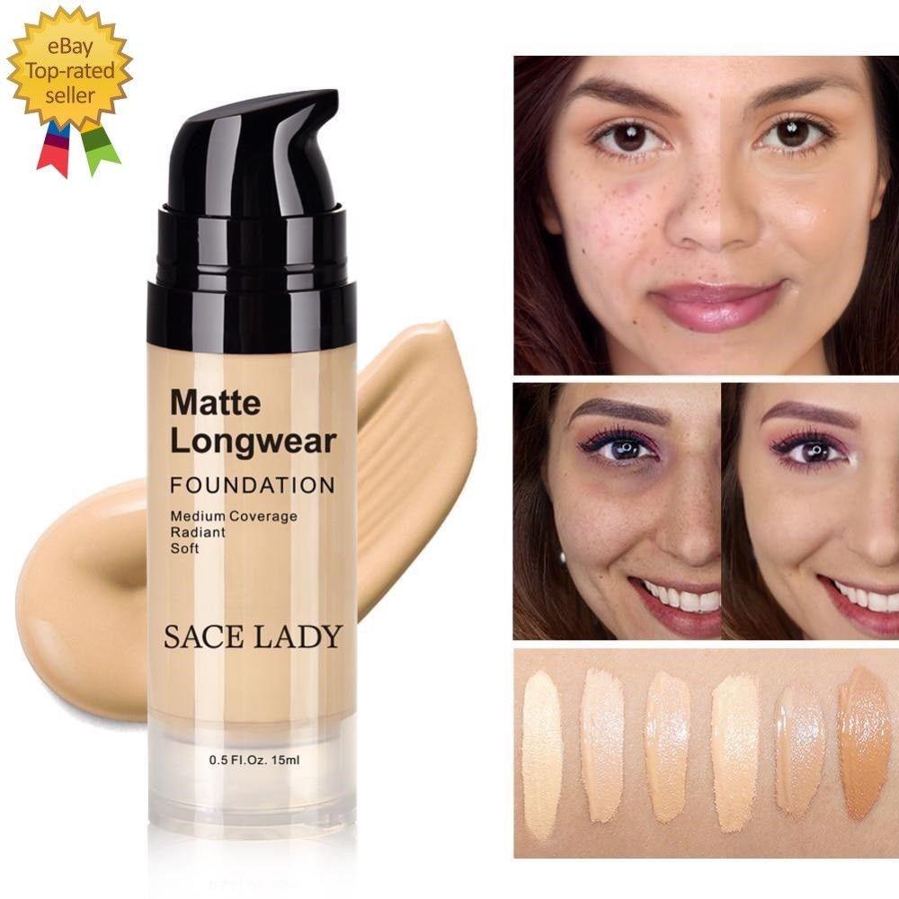 Foundation Base Makeup Professional Face Matte Finish Liquid Make Up Concealer
