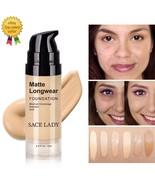 Foundation Base Makeup Professional Face Matte Finish Liquid Make Up Con... - $9.95