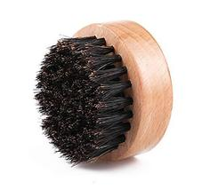 ECHOLLY Wood Beard Brush for Men - Boar Bristles Small and Round- Beard Balm and image 2