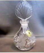 Princess House Crystal Etched Perfume Bottle Mint Condition - $11.00