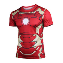 Ironman Marvel Comics Sport Dry fit fitness gym... - £16.93 GBP