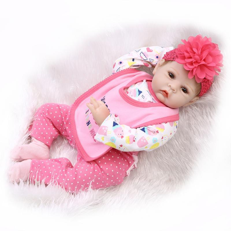Used, 22inch Real Life Reborn Baby Alive Poseable Vinyl Newborn Girl Doll Kid Playmate for sale  USA