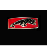 Jaguar Buckle RED Enamel sports car collector silver mens gift hood orna... - $75.00