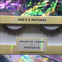 Patrick Ta X House Of Lashes HOL SHE'S a Natural False Eyelashes Lashes Falsies image 1